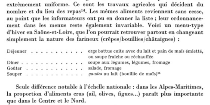 L'alimentation paysanne en France entre 1850 et 1936 - Etudes Rurales